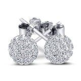 Beautiful 925 Sterling Silver Ball Stud Sterling Silver Stud Earrings. 6mm Each Size. 2.00 Carat Total Weight