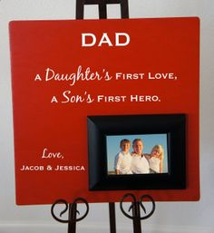 Dad A Daughters First Love Sons Hero Personalized Great Fathers Day