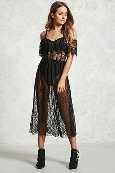 Eyelash Lace Maxi Dress