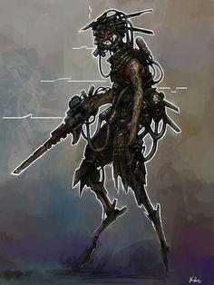 ArtStation - cyber punk character 02, daniel baird