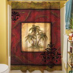 Found it at Wayfair - Palm Breezes V Shower Curtain
