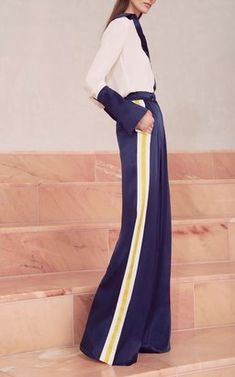 Julya Button-Up Shirt with Nicoli Wide Leg Pants by Alexis Pre-Fall 2018