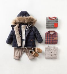 -Shop by look-baby boy months - 3 years)-kids zara united states. Baby Outfits, Outfits Niños, Toddler Boy Outfits, Toddler Boys, Kids Boys, Fashion Kids, Baby Boy Fashion, Latest Fashion, Boys Winter Clothes