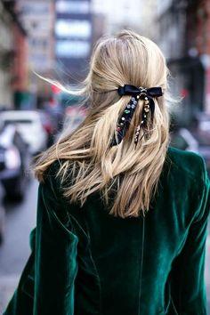 Velvet Blazer and Hair Bow- Holiday Style
