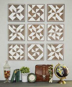 Quilt Squares or Barn Quilts Painted Wood by TheWoodenTriangle