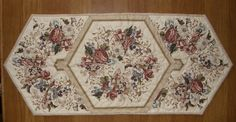 Floral Quilted Table Runner Earth Tone Quilt by HollysHutch