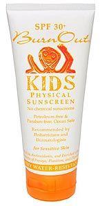 BurnOut Kids Physical Sunscreen, SPF 30 | EWG's Skin Deep® | 2012 Sunscreen Report