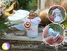 Snow in the bottle necklace by BunnyLandCraft  ★ Follow me on FB: https://www.facebook.com/BunnylandCraft ★