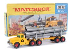 Matchbox Kingsize No.K10 Scammell Contractor Pipe Truck