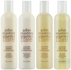 John Masters BARE: If nature smells this good why would we ever need the stinkbombs on the shelves of CVS and Sephora, am I right? Because of this, I was curious about some new products. Sexily called Bare, the new line—which includes a shampoo, conditioner, body lotion and wash—is unscented. There are no fragrance or dyes to speak of here—not even natural ones. This is a smart move, Mr. Masters.