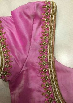 End Customization with Hand Embroidery & beautiful Zardosi Art by Expert & Experienced Artist That reflect in Blouse , Lehenga & Sarees Designer creativity that will sunshine You & your Party. Wedding Saree Blouse Designs, Pattu Saree Blouse Designs, Blouse Designs Silk, Designer Blouse Patterns, Lehenga Blouse, Wedding Blouses, Hand Work Blouse Design, Simple Blouse Designs, Blouse Simple