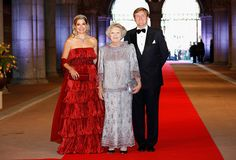 Credit: Michel Porro/WireImage Princess Maxima, Queen Beatrix and Crown Prince Willem-Alexander of the Netherlands arrive at a dinner at the...