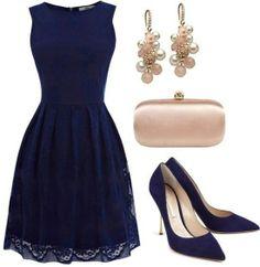 Dark blues dress