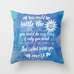 Buy Throne of Glass by Sarah J. Maas Book Quote - Rattle The Stars Throw Pillow by Evie Seo. Worldwide shipping available at Society6.com. Just one of millions of high quality products available.