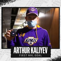 "LA Kings on Instagram: ""👏 #ArtyParty 🥳 @ArthurKaliyev34 #GoKingsGo"""