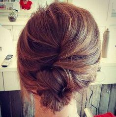 casual french twist for medium hair