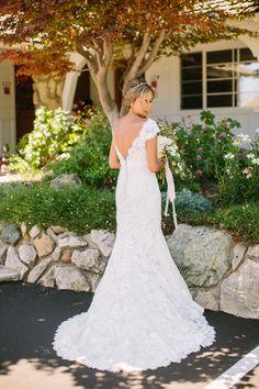 #lace, #allure-bridals  Photography: Danielle Capito Photography - daniellecapitophotography.com  Read More: http://stylemepretty.com/2013/08/06/santa-margarita-ranch-wedding-from-danielle-capito-photography/