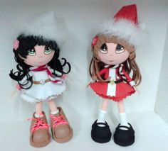 Diseños Navidad 2013.  Fofuchas. The black haired one would make a great cat