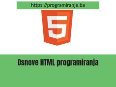"""Naucite osnove HTML 5 programiranja, kroz samo par sati. Potpuno bespatno, bez skrivenih troskova, dosadnih reklama i """"premium"""" sadrzaja. Ono sto vidite to i dobijete"""