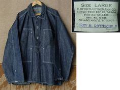 30's U.S.ARMY Denim Pullover Jacket made by ELOESSER-HEYNEMANN CO.