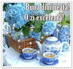 Coffee Cups, Tea Cups, Something Blue, Shades Of Blue, Blue Yellow, Tea Time, Tea Party, Glass Vase, Canning