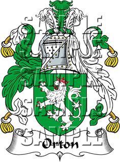 Orton Family Crest apparel, Orton Coat of Arms gifts