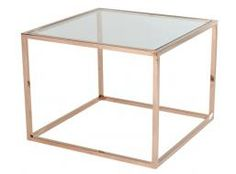 Elle Cube Stainless Steel Side Table