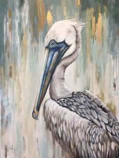 Pelican Art, Louisiana Art, Bird Drawings, Wildlife Art, Animal Paintings, Bird Art, Painting Techniques, Painting Inspiration, Art Pictures