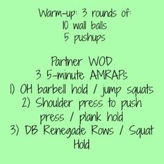 Partner WOD: this one is killer! #FitFluential
