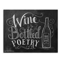 Wine is Bottled Poetry - Print