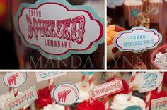 Vintage Circus Birthday Party Kit. $50.00, via Etsy.