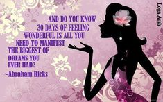 30 days of feeling wonderful 'consistently'. Let's try it!!!!