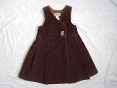 GIRL'S FLORIANE BABAR COLLECTION EURO BOUTIQUE FUN CORDUROY JUMPER DRESS 94 3 3T