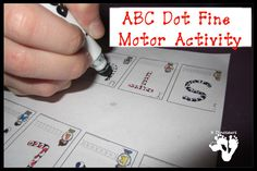 ABC Dot Fine Motor Activity - 3Dinosaurs.com