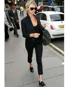 Loafers & black outfit