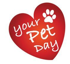 """February 20th is """"Love your Pet Day!"""" Give those precious pets some extra love today! #PetCelebration"""