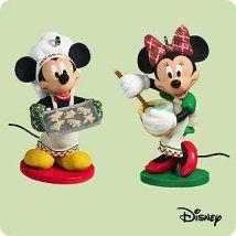 "Hallmark Keepsake Ornament Disney ""Affection for Confections"" Mickey & Minnie (2004)"