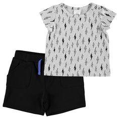 Boys' 2 Piece Lightning Botl Top And Shorts Set