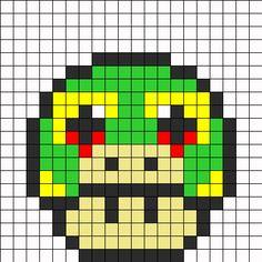 Snivy Mushroom Perler Bead Pattern / Bead Sprite