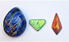 These are jasper stones, which have really variable colors.