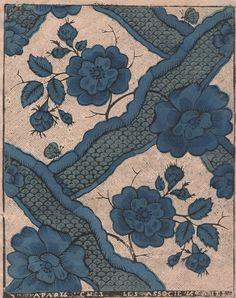 Papier dominoté de Paris, XVIIIe siècle. https://picasaweb.google.com/111453150870945126273/PapiersDominotesDuXVIIIeSiecle