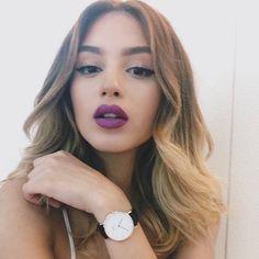 MAC Heroine Lipstick over Mac Burgundy Liner