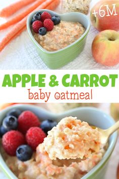 Carrot Apple Oatmeal +6 Months | Buona Pappa