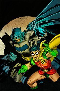 All star Batman and Robin by artist Jim Lee.