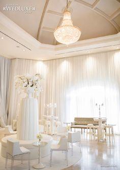 Wedding Lounge ~ WedLuxe: all white lounge area Lounge Party, Wedding Lounge, Luxury Wedding, Wedding Decor, Wedding Reception, Dream Wedding, Purple And Silver Wedding, All White Wedding, Lounge Decor