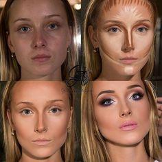 Before and after make up natural;make up glitter;make up catrina;make up inspo; - Before and after make up natural;make up glitter;make up catrina;make up inspo;make up brushes;make - Make - up Contour Makeup, Contouring And Highlighting, Skin Makeup, Makeup Brushes, Contouring Products, Makeup Inspo, Makeup Inspiration, Makeup Geek, Makeup Ideas