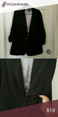 Black Plus Size Blazer Black Blazer from Torrid. Pinstripe lining. Ruched sleeves torrid Jackets & Coats Blazers