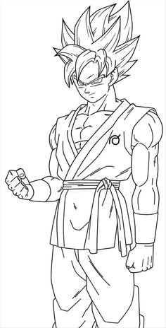 Dragonball Z Coloring Pages Goku from Goku Coloring Pages. On this page, we've collected several nice coloring pictures from the Japanese anime series Dragon Ball Z especially Son Goku. We have some images of . Chibi Goku, Goku E Vegeta, Son Goku, Goku Drawing, Ball Drawing, Super Coloring Pages, Cartoon Coloring Pages, Goku Blue, Dbz Drawings