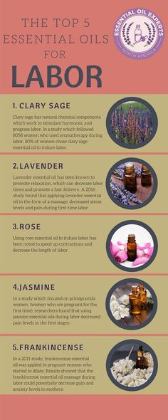 5 Best Essential Oils for Labor - Aromatherapy for Labor amp; Birth The top essential oils for labor and benefits of conducting an essential oil massage during labor. Top 5 Best Essential Oils for Labor Essential Oils For Pregnancy, Essential Oils For Massage, List Of Essential Oils, Clary Sage Essential Oil, Essential Oils For Babies, Birth Affirmations, Pregnancy Labor, Pregnancy Checklist, Pregnancy Leave