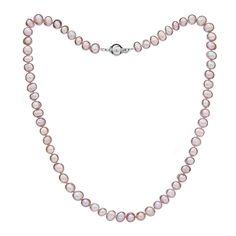 Perlový náhrdelník Mutiara 6 AA ružový